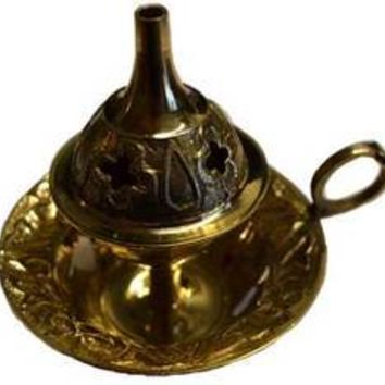 "3"" Brass cone incense burner"