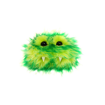 Pete the Eco-Friendly Monster - Kawaii - Green Yellow Furry Altered Altoids Tin