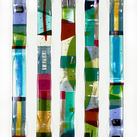 Color Waves  by Nina  Cambron: Art Glass Wall Art - Artful Home