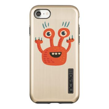Big Eyed Smiling Funny Monster Cute Incipio DualPro Shine iPhone 7 Case