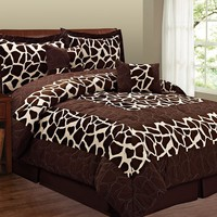 Giraffe 6-pc. Microsuede Comforter Set - King