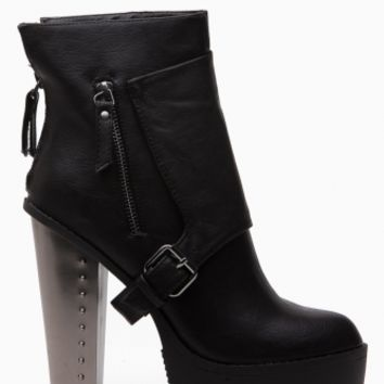 Black Faux Leather Chunky Lug Sole Booties @ Cicihot. Booties spell style, so if you want to show what you're made of, pick up a pair. Have fun experimenting with all we have to offer!