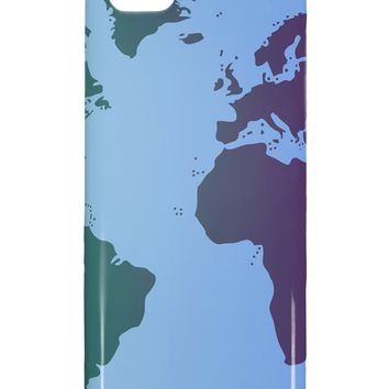 Cool World Map Design iphone 5C Plastic Case All Over Print by TooLoud