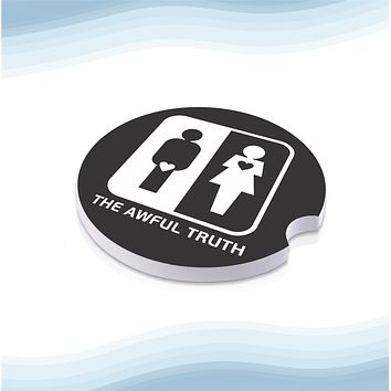 Awful Truth Car Cup Holder Ceramic Coasters (Set of 2)