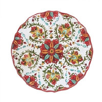 Le Cadeaux Allegra Red Melamine Outdoor Dinnerware