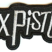 Sex Pistols Iron-On Patch White Letters Logo
