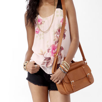 Tiered Floral Print Top