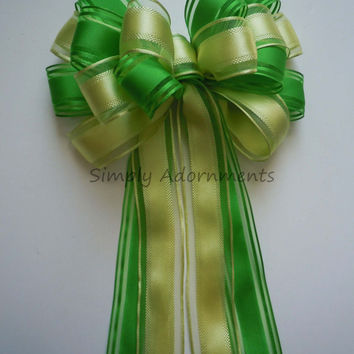 Yellow Green Wedding Aisle Bow Yellow Lime Church Pew Bow Lemonade Wedding Chair Bow Spring Baby Shower Birthday Party Decoration Bow