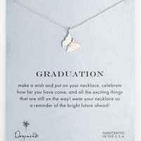 Women's Dogeared 'Reminder - Graduation' Butterfly Pendant Necklace
