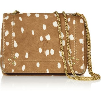 Jérôme Dreyfuss - Eliot printed calf hair and leather shoulder bag