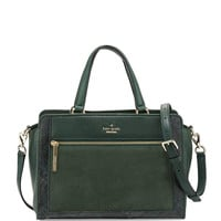 chatham lane harlan satchel bag, forest leaf - kate spade new york