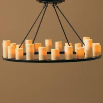 Pillar Candle Round Large Chandelier | from Restoration ...