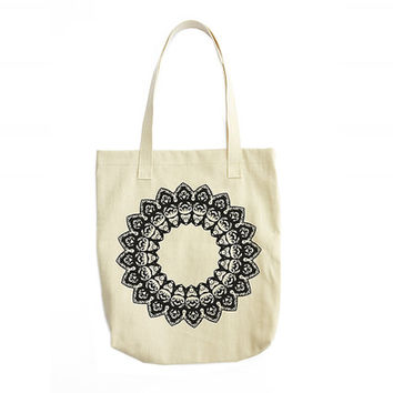 Mandala Tote Bag, Mandala Art, Mandala Drawing, Canvas Messenger Bag, Tote Bag Pattern, Messenger Bag For Women Gifts For Her Christmas Gift