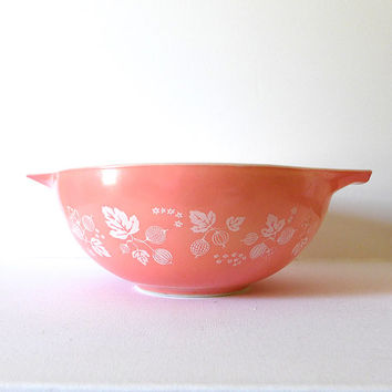 Vintage Pink Pyrex Mixing Bowl Pink 4 Qt Pyrex Pink Gooseberry Retro Kitchen Large Mixing Bowl Large Pyrex Bowl Vintage Kitchen