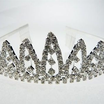 Crystal Rhinestone Tiaras Crown Flower Girl, Sweet 16