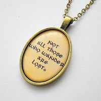 Lord of The Rings / The Hobbit: Not all those who wander are lost photo resin pendant necklace