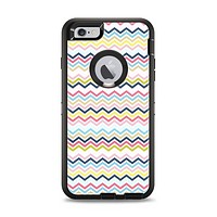 The Multi-Lined Chevron Color Pattern Apple iPhone 6 Plus Otterbox Defender Case Skin Set