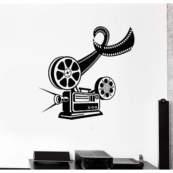 Vinyl Wall Decal Cinema Movie Film Camera Filming Stickers Unique Gift (545ig)