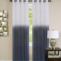 "Quintessence Ombre Sheer Window Curtain Panel (52"" x 84"") - Blue"