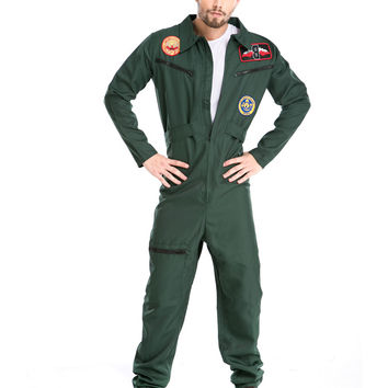 Hot Halloween Costumes Adult Mens Pilot Aviator Firefighter Costume Uniform Fancy Cosplay Costumes Clothing for Men