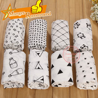 Cotton Bamboo Swaddleme Muslin Baby Wrap Swaddling Blanket Newborn Infant Swaddle Towel Famous Multifunctional 120x120cm/47*47""
