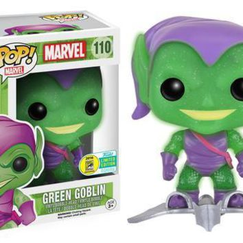SDCC 2016 Exclusive Translucent Glitter Green Goblin with Glider POP! Vinyl Figure - Not Mint