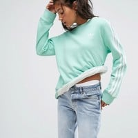 adidas Originals Mint Three Stripe Sweatshirt at asos.com