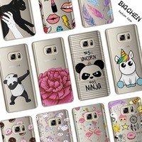 Funny Cartoon Case For Coque Samsung Galaxy S6 S7 Edge S8 Plus J2 J3 J5 J7 A3 A5 2017 2016 2015 Phone Back Cover