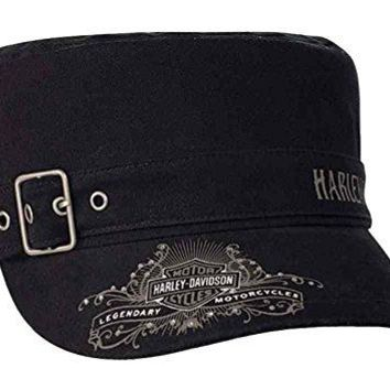 Harley-Davidson Women's Studded Wild & Free Painter's Cap w/ Buckle PC16730