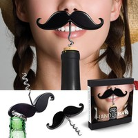 Handlebar Mustache Cork Screw Bottle Opener - Whimsical & Unique Gift Ideas for the Coolest Gift Givers