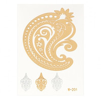 Metallic Temporary Body Tattoo Sticker