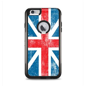 The Scratched Surface London England Flag Apple iPhone 6 Plus Otterbox Commuter Case Skin Set