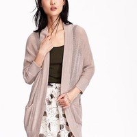 Old Navy Womens Loose Knit Open Front Cardigans