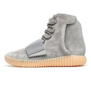 DCCKIJG Adidas Yeezy Boost 750 Unisex Grey White/Light Grey Gum/Black Classic Shoes