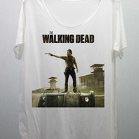 The Walking Dead T Shirts Tee Shirt handmade silk screen printing size M and L