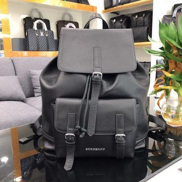 PEAP BURBERRY MEN'S LEATHER BACKPACK BAG