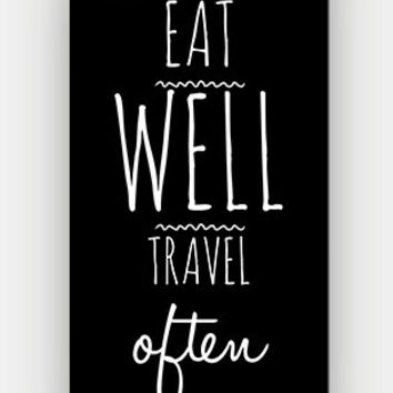 Eat Well Travel Often - Full printed case for iPhone - by HeartOnMyFingers - CMB-175