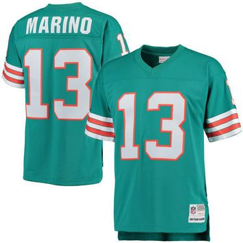 Mens Miami Dolphins Dan Marino Mitchell & Ness Aqua Retired Player Vintage Replica Jersey