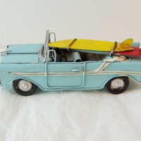 Sky blue convertible Chevrolet miniature