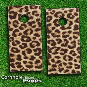 Cheetah Print Skin-set for a pair of Cornhole Boards