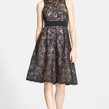 Women's Jay Godfrey 'Lex' Embroidered Lace Fit & Flare Dress
