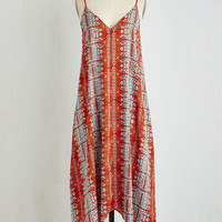 ModCloth Boho Long Sleeveless Shift Raise the Barbados Dress