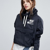 Nike Archive Pullover Jacket In Black at asos.com