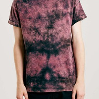 Black And Pink Washed T-Shirt - Topman