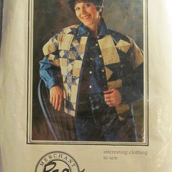 Sale Uncut Merchant Rag Sewing Pattern! Seeing Stars Vest/Quilt Jackets/Loose Fitting Comfortable Vest/XS/Small/Medium/Large/XL Women's Miss