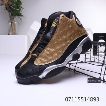Rolex x Air Jordan 13 Retro Black Gold Metal Silver Sneaker - Best Deal Online