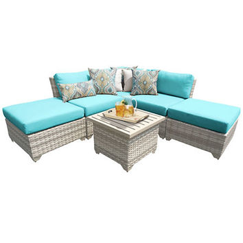 Laguna Turquoise Outdoor Seating Set, Set of 6
