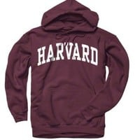 Harvard Crimson Maroon Arch Hooded Sweatshirt: Sports & Outdoors