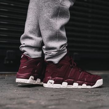 Best Sale Nike Air More Uptempo Maroon
