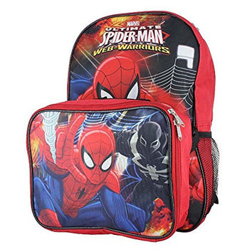 "Disney Nickelodeon Marvel 16"" inch Kids Backpack With Detachable Lunch Box Set"